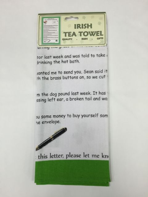 Liffey Artefacts Irish Tea Towel - Letter From An Irish Daughter To Her Mother